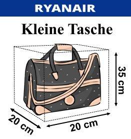 Ryanair Handgepäck 35cm x 20cm x 20cm